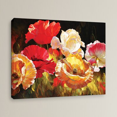 'Poppy Celebration' by Emma Styles Wall Art on Wrapped Canvas
