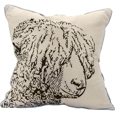 Sheep Embroidered Indoor/Outdoor Throw Pillow