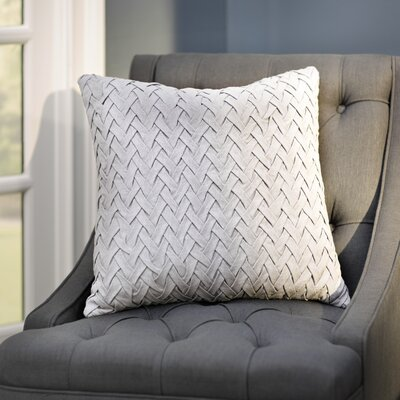 Eastlawn 100% Cotton Throw Pillow Size: 20 H x 20 W x 4 D, Color: White