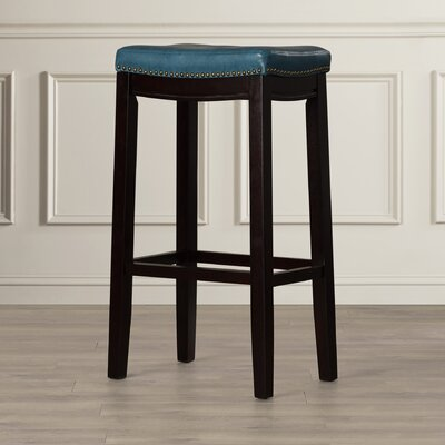 Russett 32 Bar Stool Color: Blue