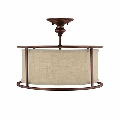 Portman 3-Light Semi-Flush Mount