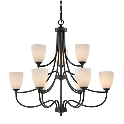Southbury 9-Light Shaded Chandelier