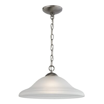 Cathy 1-Light Bowl Pendant Finish: Brushed Nickel