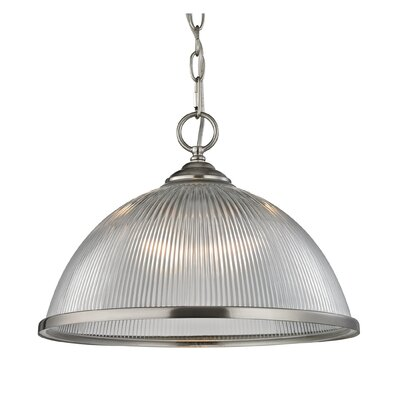 Grosse Traditional 1-Light Bowl Pendant Finish: Brushed Nickel