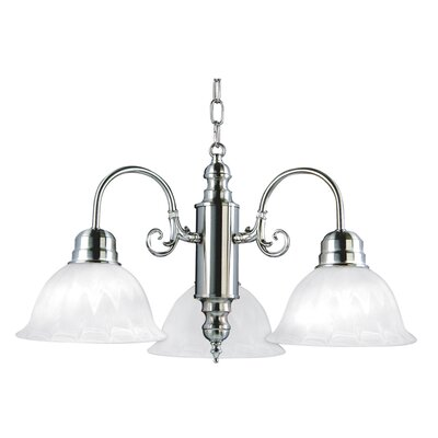 Barre 3-Light Shaded Chandelier Finish: Satin Nickel