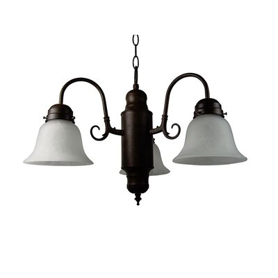 Barre 3-Light Shaded Chandelier Finish: Dark Brown
