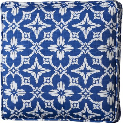Indoor/Outdoor Chair Cushion with Matching Fabric Ties