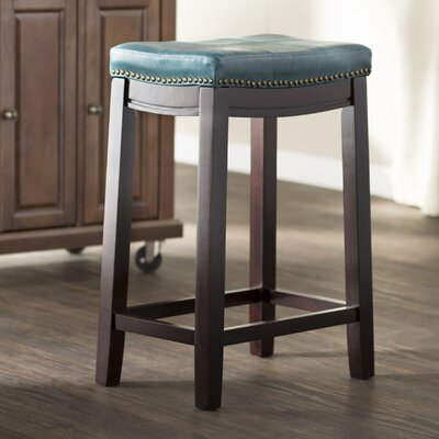 Russett 26 Bar Stool Upholstery: Blue