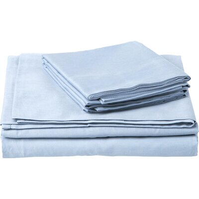 Southampton 200 Thread Count 100% Cotton Sheet Set Size: King, Color: Ice