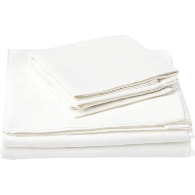 Southampton 200 Thread Count 100% Cotton Sheet Set Size: Full, Color: White
