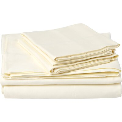 Southampton 200 Thread Count 100% Cotton Sheet Set Size: King, Color: Ivory