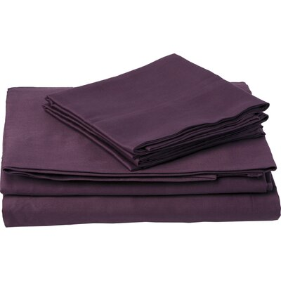 Southampton 200 Thread Count 100% Cotton Sheet Set Size: King, Color: Wine
