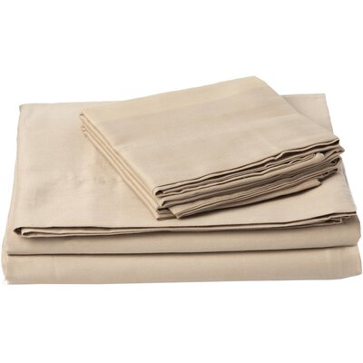 Southampton 200 Thread Count 100% Cotton Sheet Set Size: Queen, Color: Taupe