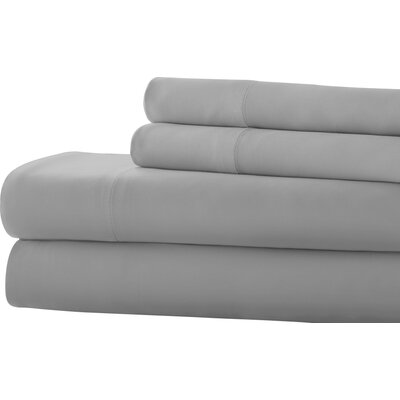 Southampton 200 Thread Count 100% Cotton Sheet Set Size: Full, Color: Silver