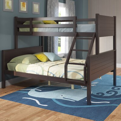 Tyre Twin over Full Bunk Bed Finish: Dark Cappuccino
