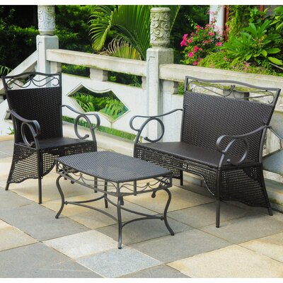 Meetinghouse 3 Piece Lounge Seating Group Finish: Chocolate