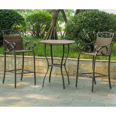 Meetinghouse 3 Piece Bar Set Finish: Antique Brown