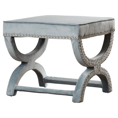 Weybossett Ottoman Upholstery: Wedgewood Blue