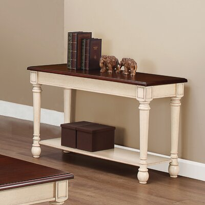 Classic Two Tone Sofa Table
