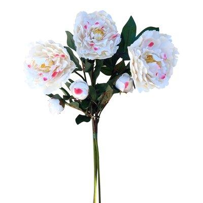 Faux Cut Peony Bouquet Color: Cream/Pink