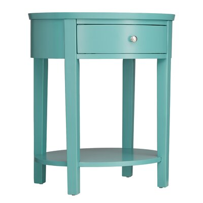Canterbury End Table with Storage Color: Marine Green