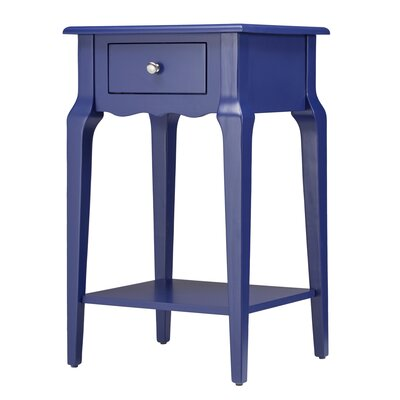 Daltrey 1 Drawer End Table Color: Twilight Blue
