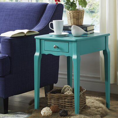 Pinckney End Table With Storage� Color: Marine Green