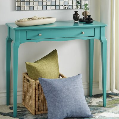 Fabius Console Table Color: Marine Green