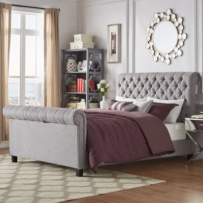 Carthusia Queen Upholstered Sleigh Bed Color: Gray