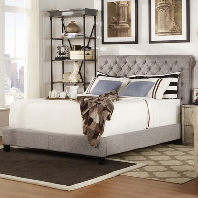 Hinsdale Queen Upholstered Platform Bed Color: Gray