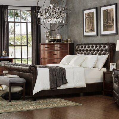 Carthusia King Upholstered Sleigh Bed