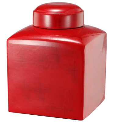 Stria Decorative Square Lidded Jar