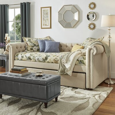 New Britain Daybed with Trundle Color: Beige
