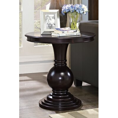 Loganville End Table Color: Dark Cherry