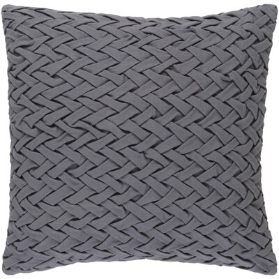 Eastlawn Cotton Throw Pillow Color: Gray, Size: 18 H x 18 W x 4 D