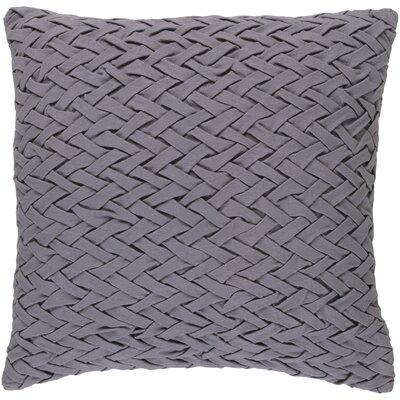 Eastlawn Cotton Throw Pillow Size: 22 H x 22 W x 4 D, Color: Burgandy