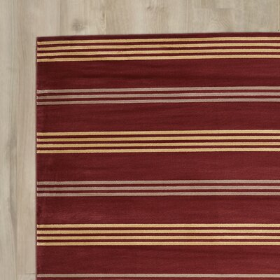 Pleasantville Red Area Rug Rug Size: Runner 23 x 77