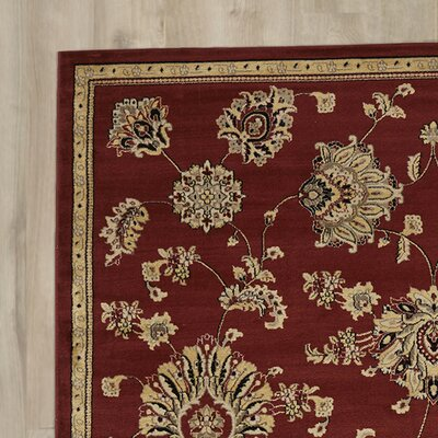 Brownville Red Area Rug Rug Size: Runner 23 x 77