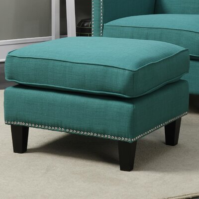 Rotterdam Ottoman Upholstery: Teal