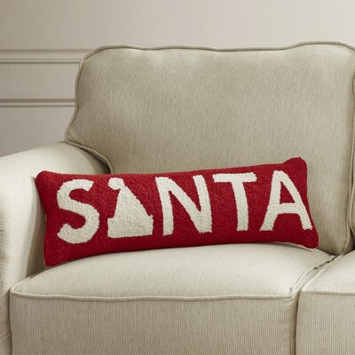 Northup Santa Hook Wool Throw Pillow