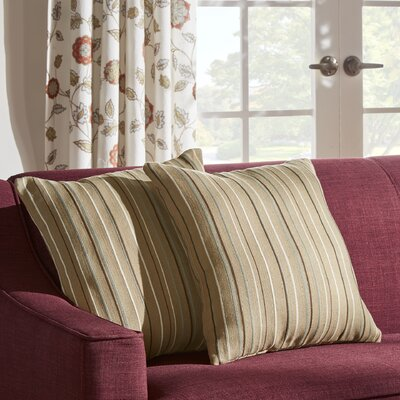 Novella Oliver Stripe Print Throw Pillow Color: Mocha Brown