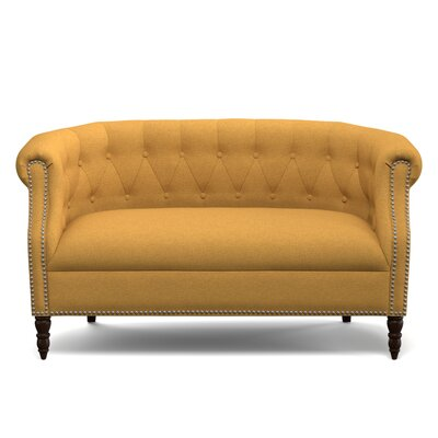 Huntingdon Loveseat Upholstery: Mustard Yellow