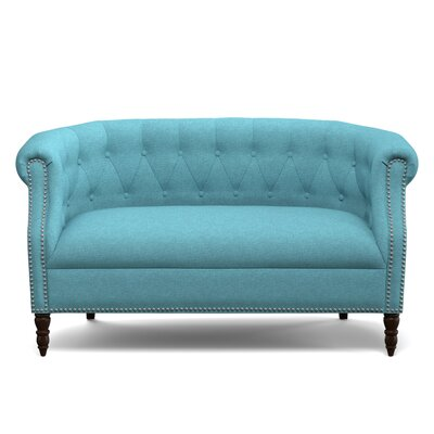 Huntingdon Loveseat Upholstery: Turquoise Blue