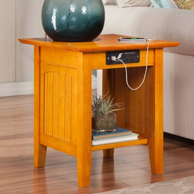Orangetown End Table with Charging Station Finish: Caramel Latte