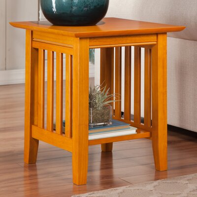 Danube End Table Color: Caramel Latte