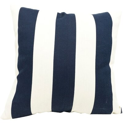 Brino Outdoor Throw Pillow Color: Navy Blue