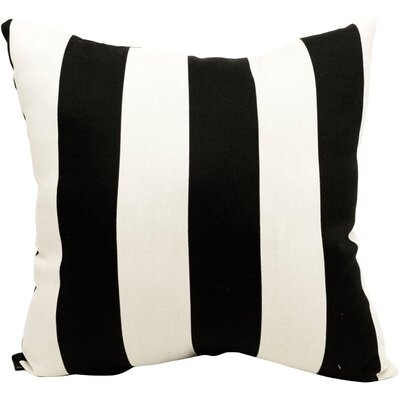 Brino Outdoor Throw Pillow Color: Black