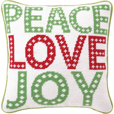 Peace Love Joy Wool Throw Pillow