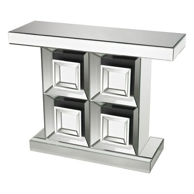 Dansville Mirrored Console Table