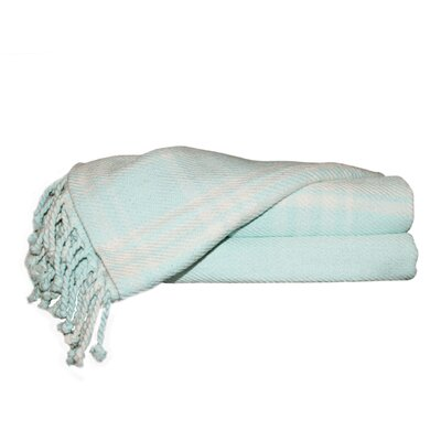 Southington 100% Cotton Throw Blanket Color: Sky Blue